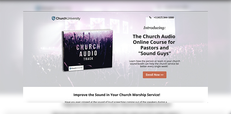 ChurchUniversity.com screenshot