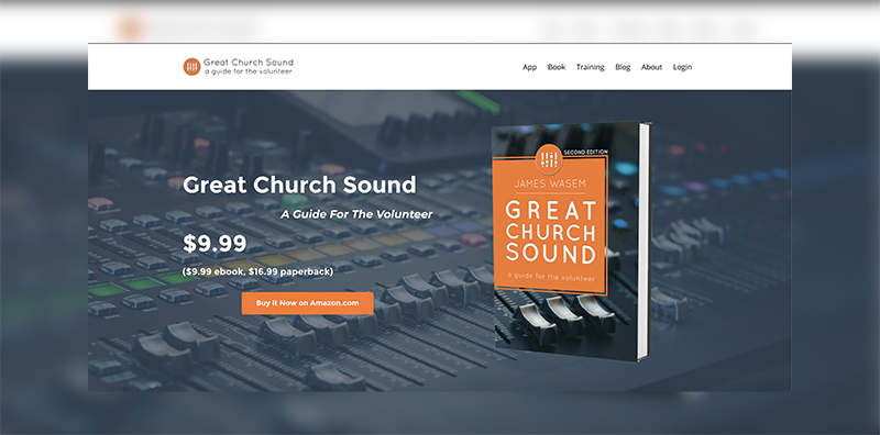 GreatChurchSound.com Screenshot