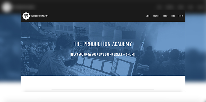 TheProductionAcademy.com Screenshot