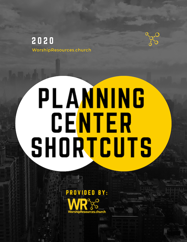 Planning Center Shortcut Cover Free PDF