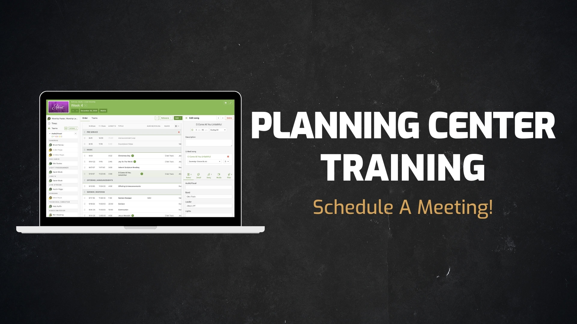 Services We Offer - Planning Center Training